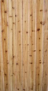 Western red cedar - warm look, takes stain better than pine. Not as decay resistant as some claim. If not stained, very attractive to wasps.