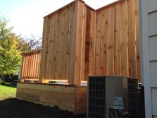 Cedar privacy screen - Downers Grove