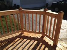 A-Affordable Decks in Lombard  - standard deck railing