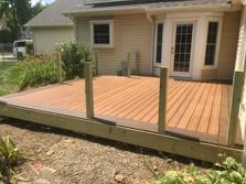 Trex deck in Wheaton Il by A-Affordable Decks 2016