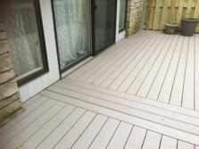 Azek decking installed on balcony in Burr Ridge IL by A-Affordable Decks 2016