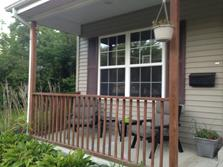 (Before) Villa Park porch railing