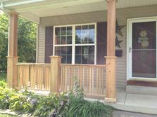(After) Villa park porch railing. A-Affordable Decks