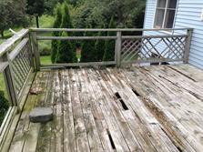 Bolingbrook Illinois deck 2015 (before) by A Affordable Decks