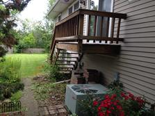 Downers Grove Illiois deck (before) A Affordable Decks