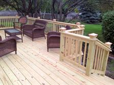Wheaton deck - pressure treated pine