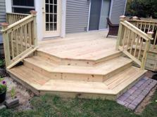 Wheaton deck contractor A-Affordable decks - wraparound steps