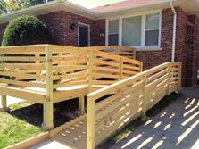 Wheelchair ramp - A-Affordable Decks in Lombard builds wheelchair ramps