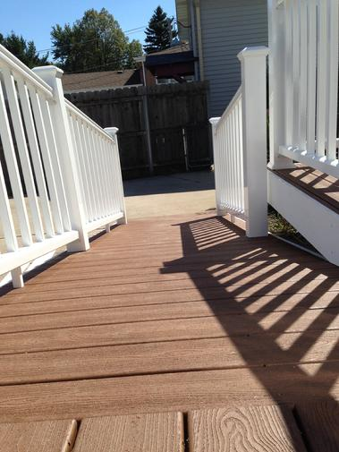 Trex Transcend. Great planking material! A-Affordable Decks. Authorized Trex Pro installer. Lombard IL
