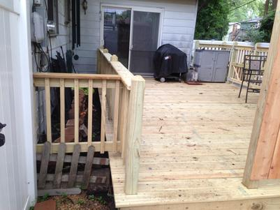 Bolingbrook Illinois deck A Affordable Decks 2015
