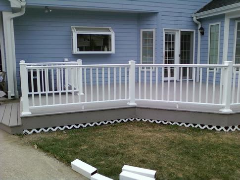 (After) Tearout the old and in with a brand new maintenance free AZEK vinyl deck. A-Affordable gives no obligation in-home estimates 630-620-4130