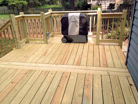 Grill bump-out by A-Affordable Decks in Lombard Illinois