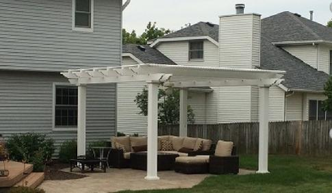 Shade the patio - A-Affordable Decks