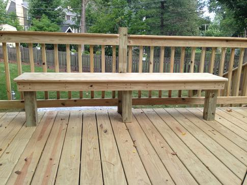 Wood benches on decks - A-Affordable Decks of Lombard, Illinois