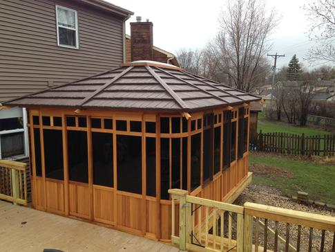 Glendale Heights Illinois deck contractor A Affordable Decks installs high quality gazebos and spa enclosures