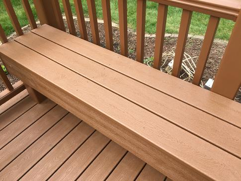 Trex bench - Lisle Illinois deck contractor A-Affordable Decks