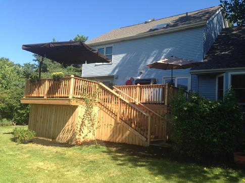 Bolingbrook Illinois deck by deck contractor A Affordable Decks 2015