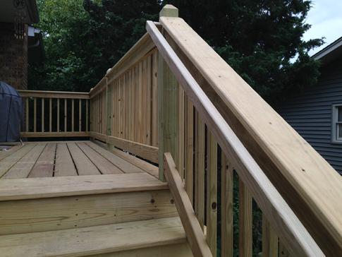 Downers Grove graspable handrail 2015 A Affordable Decks a deck builder in Lombard Illinois