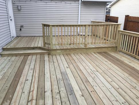 Bloomingdale IL deck 2017 - deck builder A-Affordable Decks