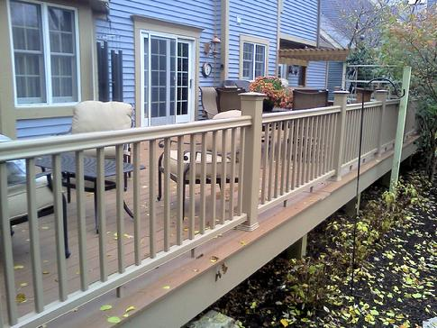 A Affordable Decks of Lombard IL. are authorized installers of Azek p.v.c. decking products. This installation in Darien, Illinois
